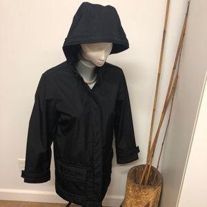 GAP ladies M lined lightweight jacket rain hooded